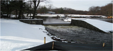 The Auxiliary Dam in its Winter Coat Waiting for Spring